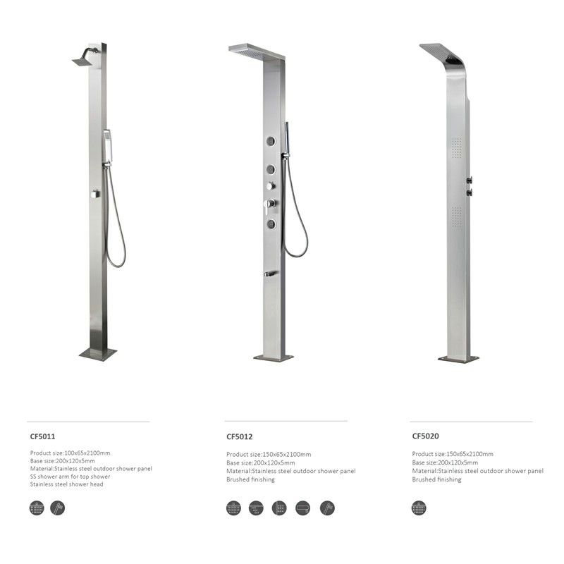 Stainless steel outdoor Shower Panel CF5017