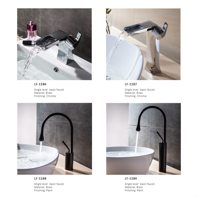 Single lever basin faucet  shower faucet
